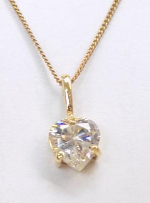 "9ct gold 18"" chain with a 9ct gold heart pendant"