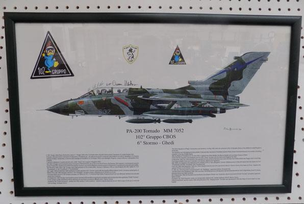 Tornado print signed by The Pilots