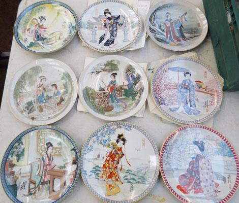 Japanese plates - 9 in collection