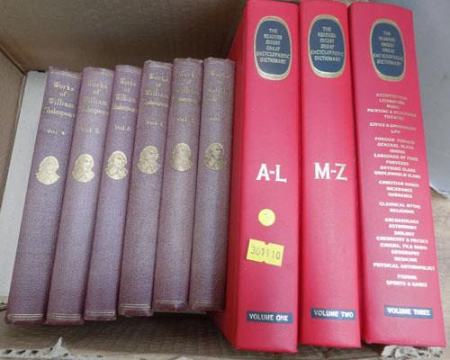 Vintage books - works of Shakespeare, 6 volumes + three others