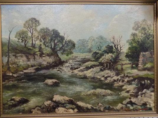 Painting of the Dales by local artist Jim Hardaker