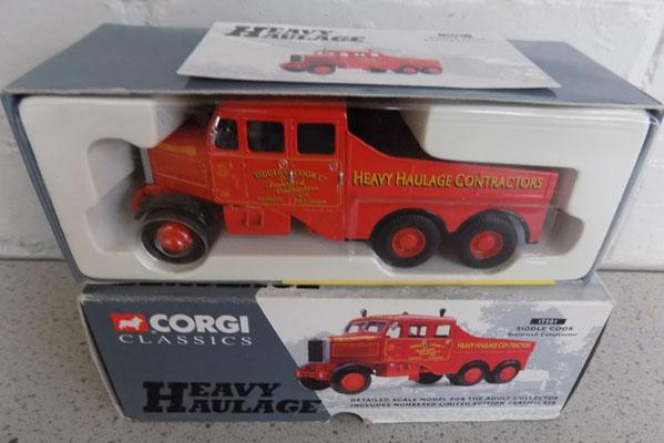New and boxed Corgi heavy haulage No 17501 Scamell