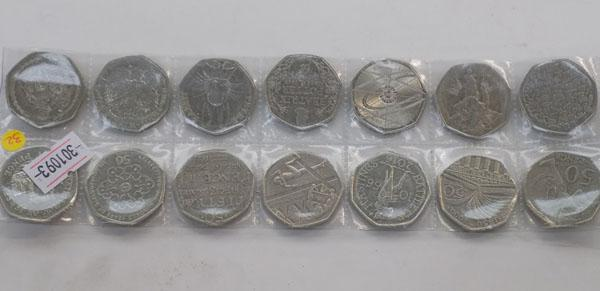 Collection of collectable 50p's x14