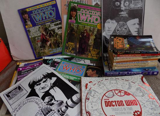 Doctor Who books and magazines