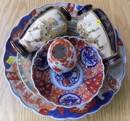 Six items of Japanese & Chinese ceramics