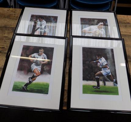 4 rugby prints
