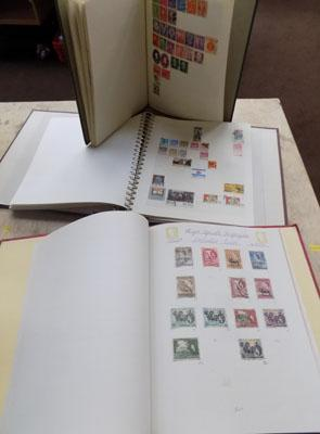 Three stamp albums