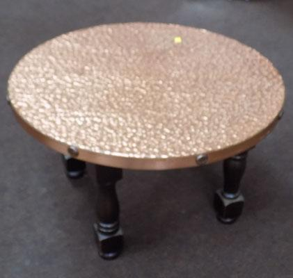 Ornate copper/plate top table