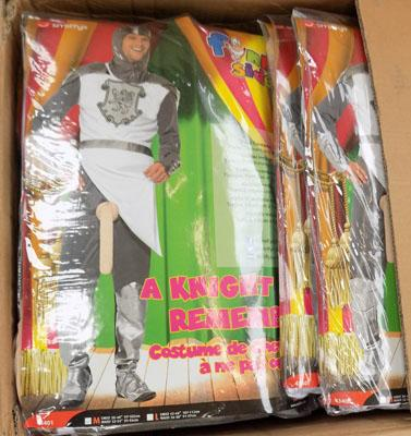 Box of knight costumes
