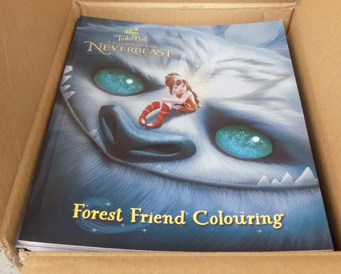 Box of new Tinkerbell colouring books