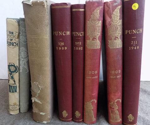 8 Vintage Punch books