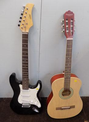 Electric guitar and accoustic guitar