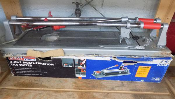 3 in 1 Sealey tile cutter