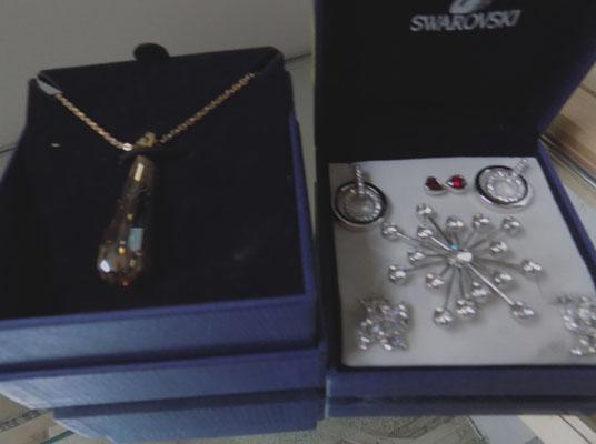 Collection of swarovski crystal jewellery incl. earrings,  necklace etc.