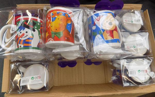 12x New Christmas cup & teddy sets