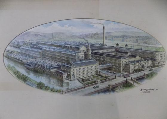 1920's Watercolour Saltaire mounted