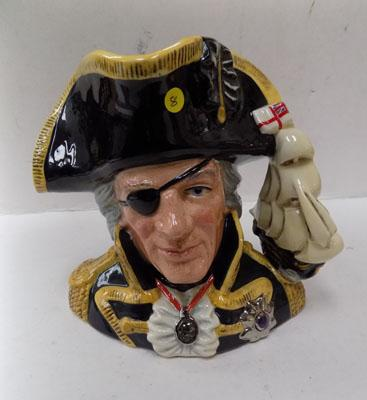 Large Royal Doulton character jug of Vice Admiral Lord Nelson, 'Battle of Trafalgar' edition - only available in 1993