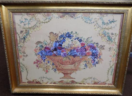 Bowl of fruit picture - signed