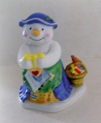 Royal Doulton Mrs Frosty finishing touch