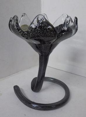 Murano hand blown flower candle holder