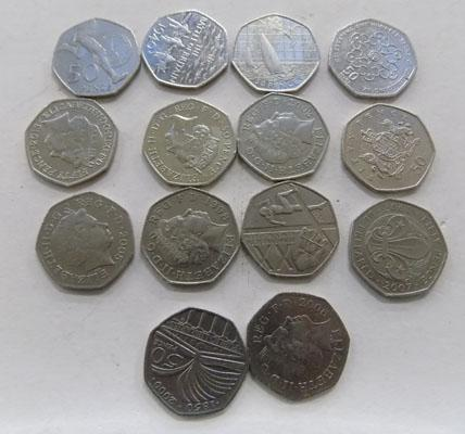 14 collectable 50ps