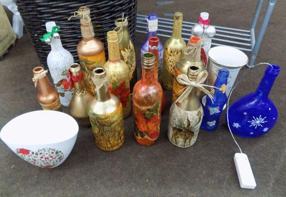 Large collection of novelty bottles