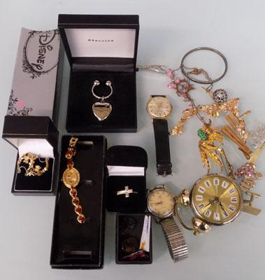 Selection of watches and costume jewellery
