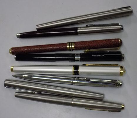 8, as new, fountain pens, incl. Parker