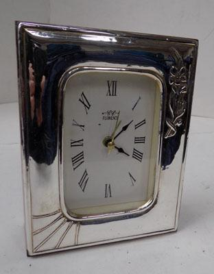Silver 925 front Florence alarm clock