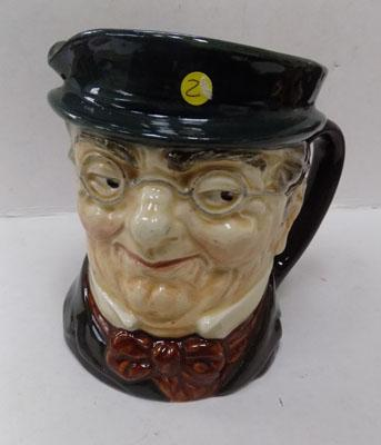 Large Royal Doulton character jug of Mr Pickwick - pre 1960