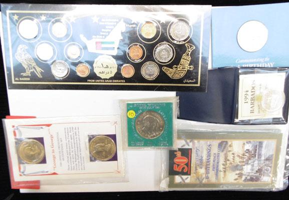 Collection of assorted coins incl. silver proofs