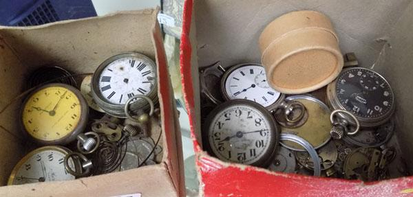 2x Boxes of pocket watches