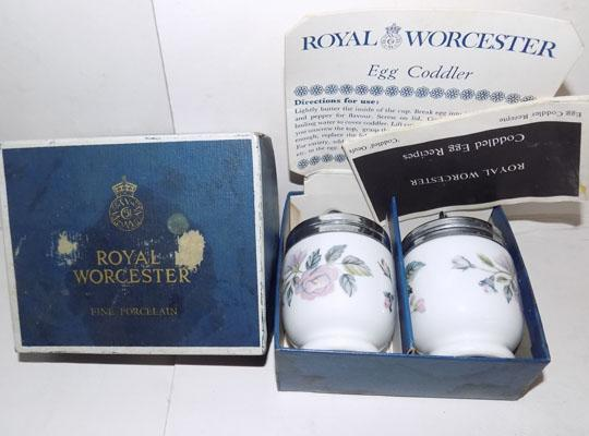 Royal Worcester coddler x 2, boxed