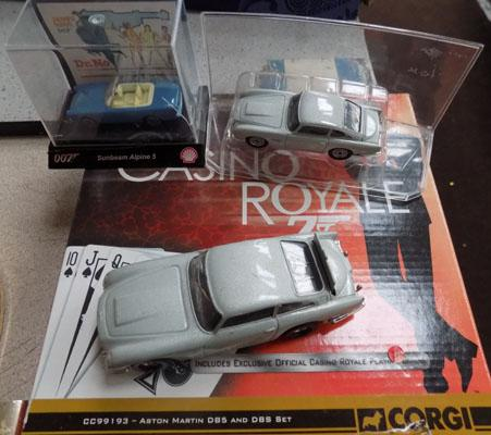 James Bond cars new in box & 3 others