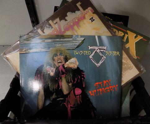 Box of collectable records, incl Twisted Sister, Led Zeplin, Floyd, Hendrix & many more