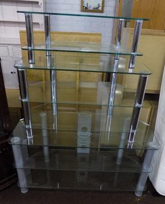 Glass TV stand/entertainment unit x3