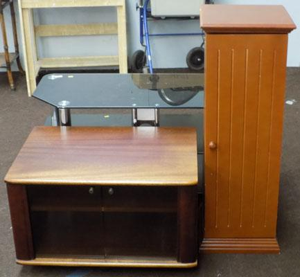 CD/storage cabinet & wooden tv stand