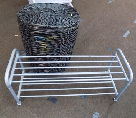 Linen basket and shoe stand
