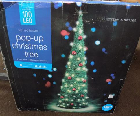 New pop up LED 6ft Christmas tree