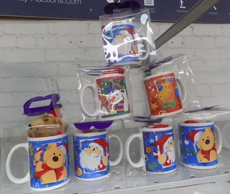 7x New Christmas cup & teddy sets