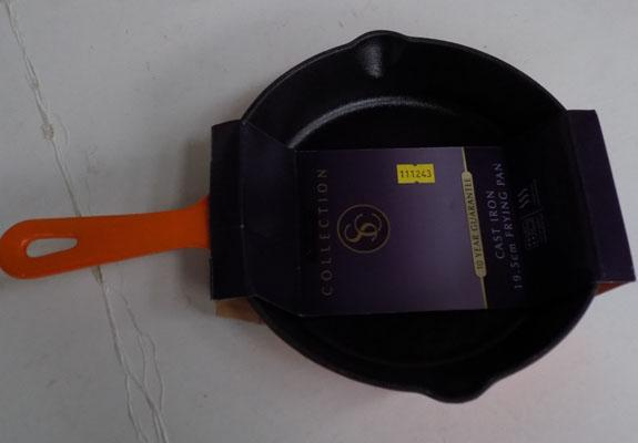 Cast iron frying pan-new