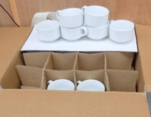5 boxes of new coffee cups
