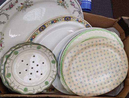 Box of meat plates & others