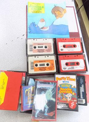 Collection of vintage kids audio tapes