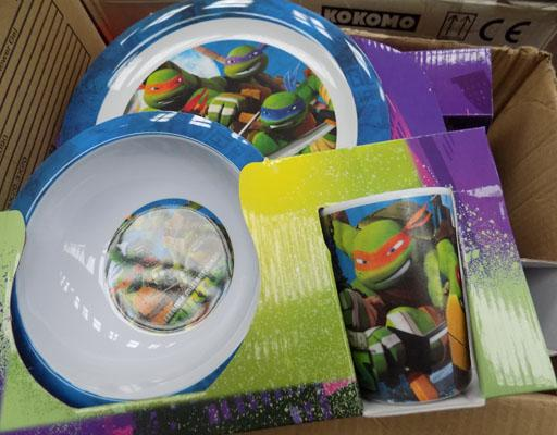 Job lot of turtle plate/ cup sets