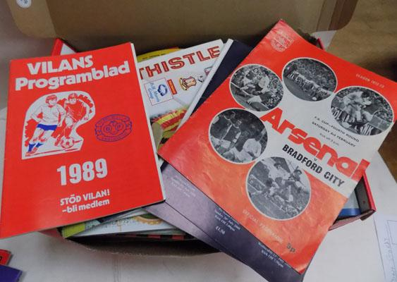 Box of over 100 Bradford City programmes-mostly away