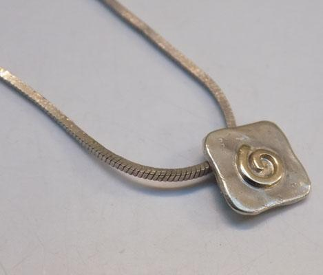 Sterling 925 silver necklace-approx 16""