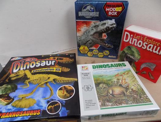 3 Dinosaur kits and 120 piece jigsaw