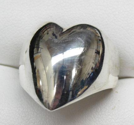 925 silver heart ring size O1/2