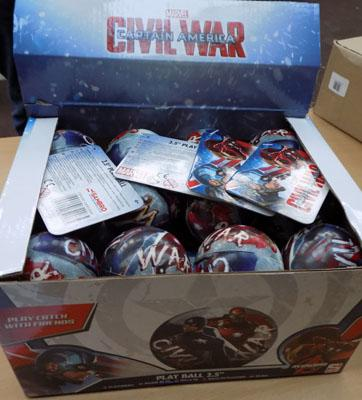 Box of Civil War toys